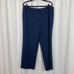 Lafayette 148 Blue Virgin Wool Dress Pants Sz.16